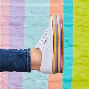 Superga Rainbow Platform Flatform Sneakers
